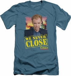 CSI Miami slim-fit t-shirt Never Close mens slate