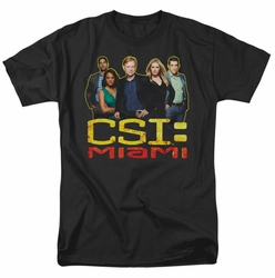 CSI Miami t-shirt The Cast In Black mens black
