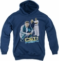 Csi Miami youth teen hoodie In Perspective navy