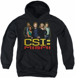 Csi Miami youth teen hoodie The Cast In Black black