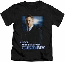 CSI New York kids t-shirt Justice Served black