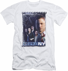 CSI New York slim-fit t-shirt Watchful Eye mens white