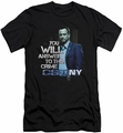CSI New York slim-fit t-shirt You Will Answer mens black