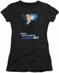 CSI NY juniors t-shirt Justice Served black