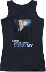CSI NY juniors tank top Justice Served black