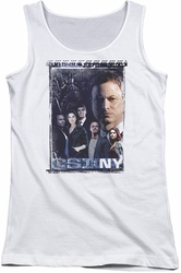CSI NY juniors tank top Watchful Eye white
