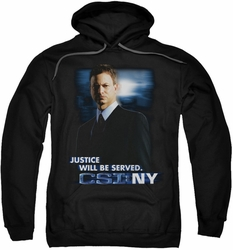 CSI NY pull-over hoodie Justice Served adult black