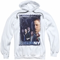 CSI NY pull-over hoodie Watchful Eye adult white