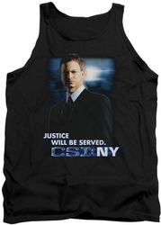 Csi Ny tank top Justice Served mens black