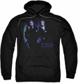 CSI pull-over hoodie At The Scene adult black