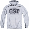 CSI pull-over hoodie Distressed Logo adult athletic heather
