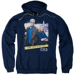 CSI pull-over hoodie Do Not Cross adult navy