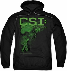 CSI pull-over hoodie Evidence adult black