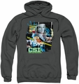 CSI pull-over hoodie Evidence Collage adult charcoal