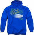 CSI pull-over hoodie I Ate The Evidence adult royal blue