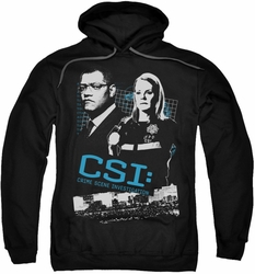 CSI pull-over hoodie Investigate This adult black