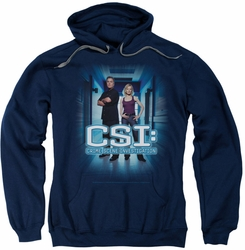 CSI pull-over hoodie Serious Business adult navy