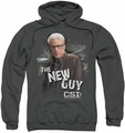 CSI pull-over hoodie The New Guy adult charcoal