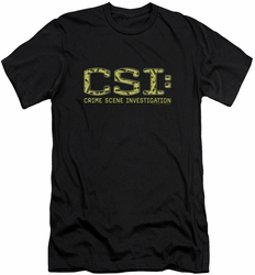 CSI slim-fit t-shirt Collage Logo mens black