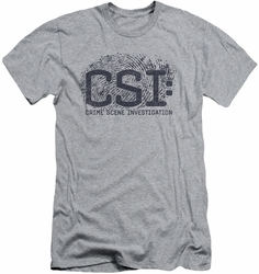 CSI slim-fit t-shirt Distressed Logo mens heather