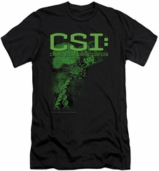 CSI slim-fit t-shirt Evidence mens black