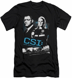 CSI slim-fit t-shirt Investigate This mens black