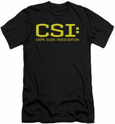 CSI slim-fit t-shirt Logo mens black