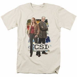 CSI t-shirt Back To Back mens cream
