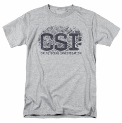 CSI t-shirt Distressed Logo mens heather