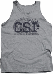 CSI tank top Distressed Logo mens heather