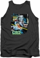 CSI tank top Evidence Collage mens charcoal