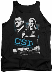 CSI tank top Investigate This mens black