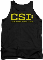 CSI tank top Logo mens black
