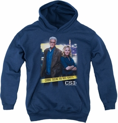CSI youth teen hoodie Do Not Cross navy