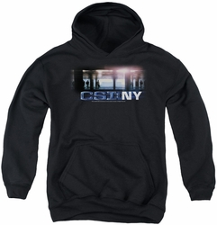 CSI youth teen hoodie New York Subway black