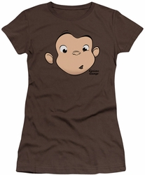 Curious George juniors t-shirt George Face coffee