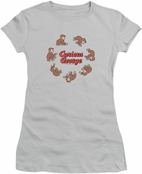 Curious George juniors t-shirt Rolling Fun Der silver