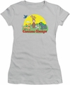 Curious George juniors t-shirt Sunny Friends Silver