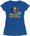 Curious George juniors t-shirt Who Me Royal Blue