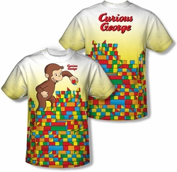 Curious George mens full sublimation t-shirt Building Blocks