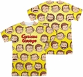 Curious George mens full sublimation t-shirt Curious Faces