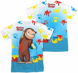 Curious george mens full sublimation t shirt paint all over for Curious george mural