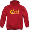 Curious George pull-over hoodie Curious adult red