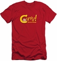Curious George slim-fit t-shirt Curious mens red