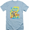 Curious George slim-fit t-shirt Messy George mens light blue