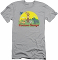 Curious George slim-fit t-shirt Sunny Friends mens silver