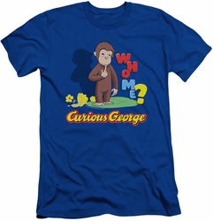 Curious George slim-fit t-shirt Who Me mens royal