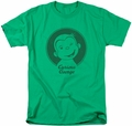 Curious George t-shirt Classic Wink mens kelly green