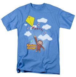 Curious George t-shirt Flight mens Carolina Blue