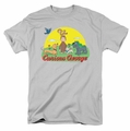 Curious George t-shirt Sunny Friends mens Silver